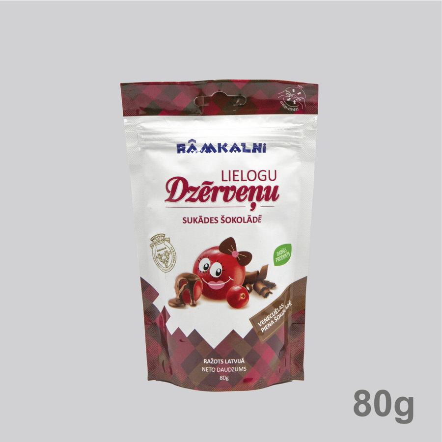 Lielogu dzērveņu sukādes piena šokolādē
